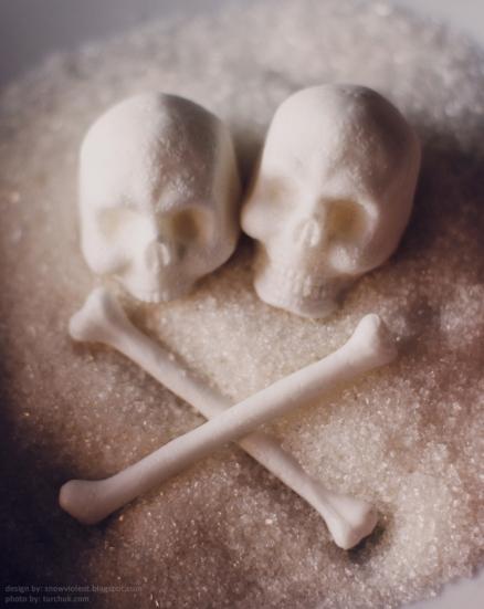sugar skull and crossbones